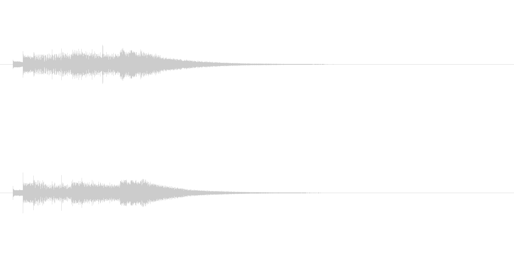 キラキラキラキラ/グロッケン綺麗な上昇音の未再生の波形