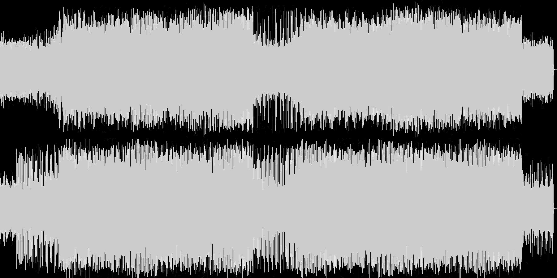 楽しいアップテンポのシンセサイザーの曲の未再生の波形