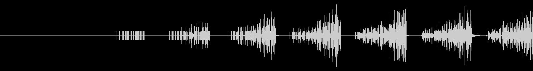 ザザザザザッ(ゲーム系の逃走音)の未再生の波形
