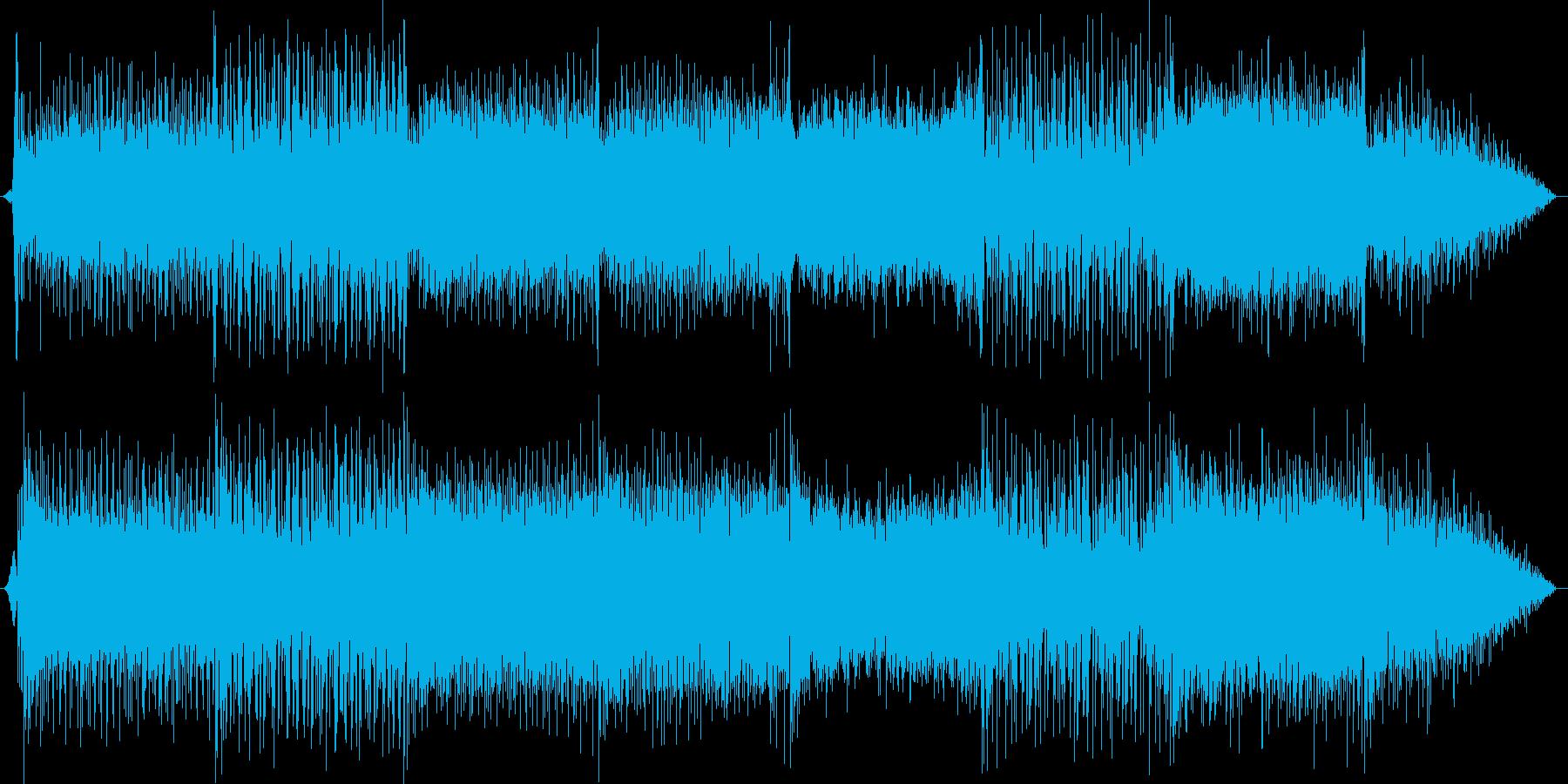 カーチェイス映画のような疾走感のBGMの再生済みの波形