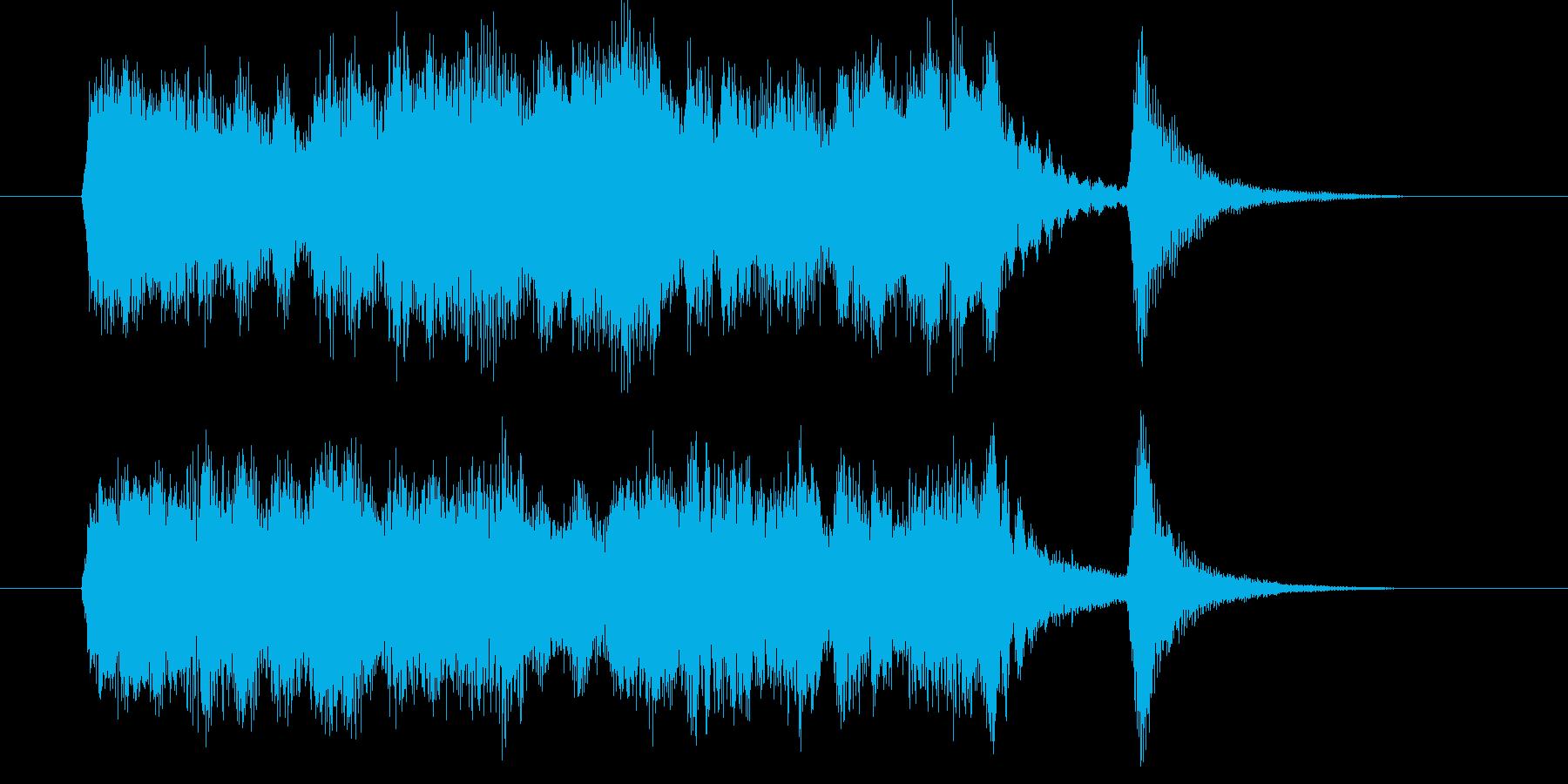 厳かで険しい感じの重厚な短い曲の再生済みの波形