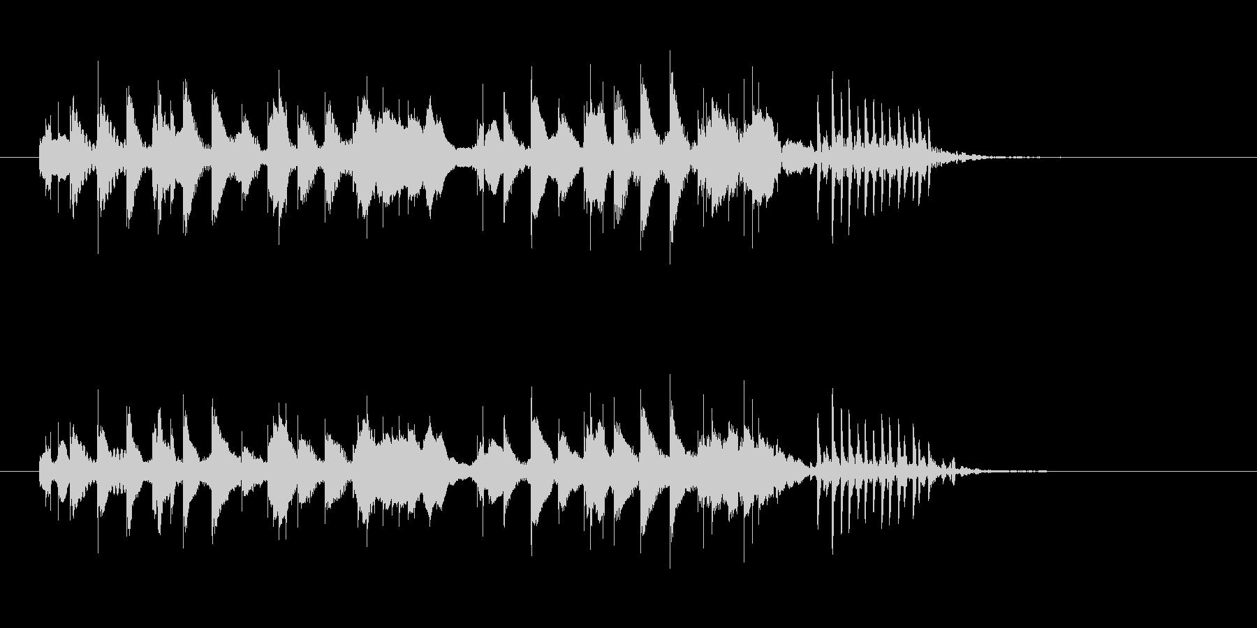 軽やかな木琴打楽器音(ジングル、転換)の未再生の波形