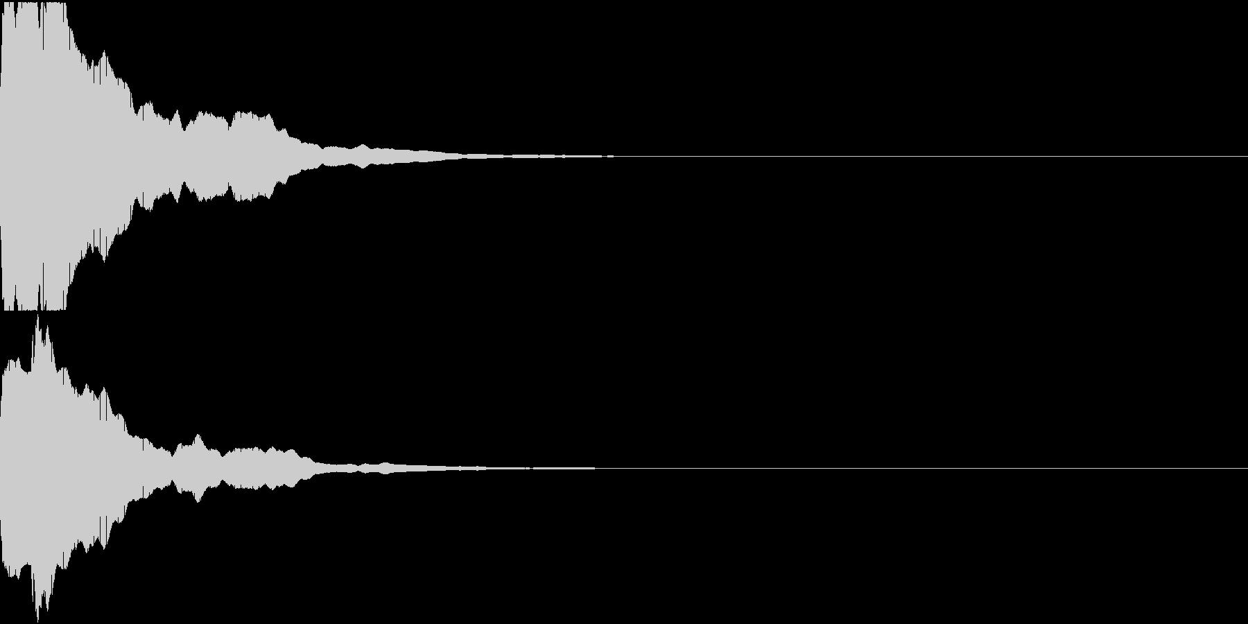 決定音14(ピィーン)の未再生の波形