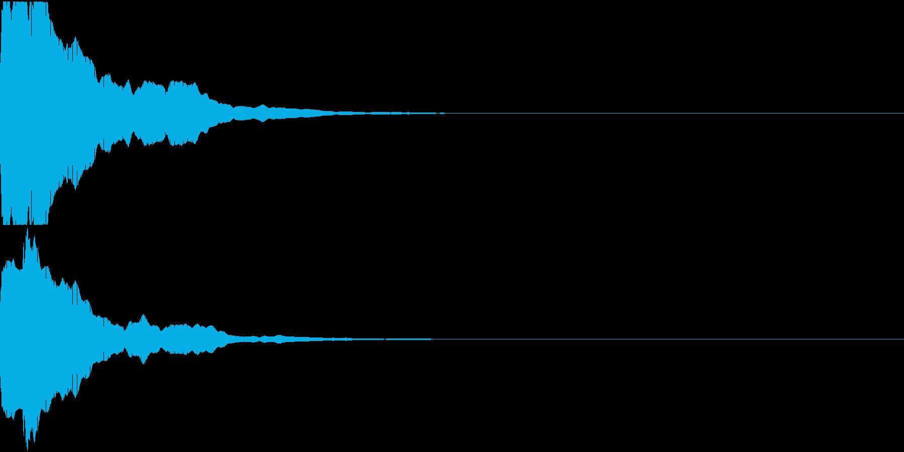 決定音14(ピィーン)の再生済みの波形
