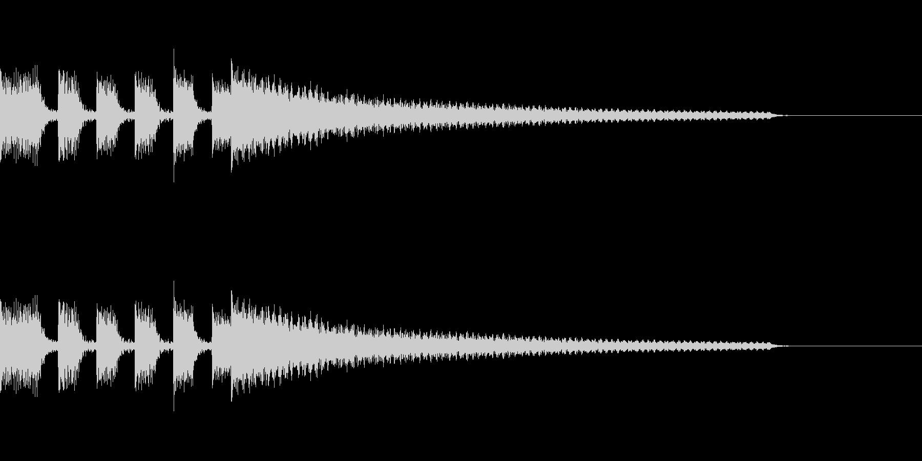 アクセントの強いエレピのジングルの未再生の波形