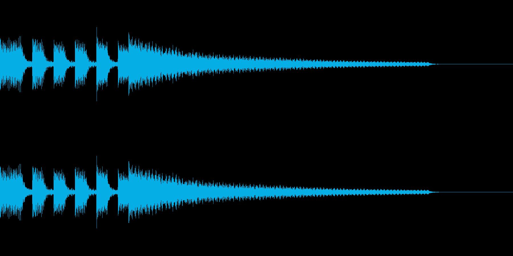 アクセントの強いエレピのジングルの再生済みの波形