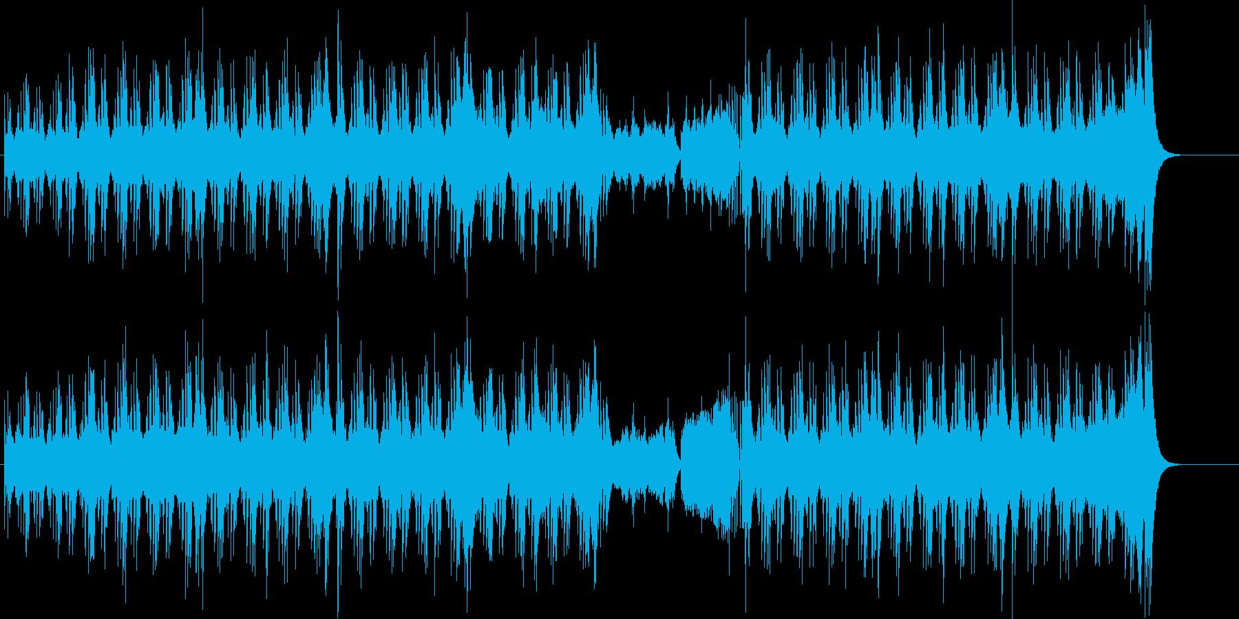 緊迫感のあるサスペンス・ドラマ風の曲の再生済みの波形