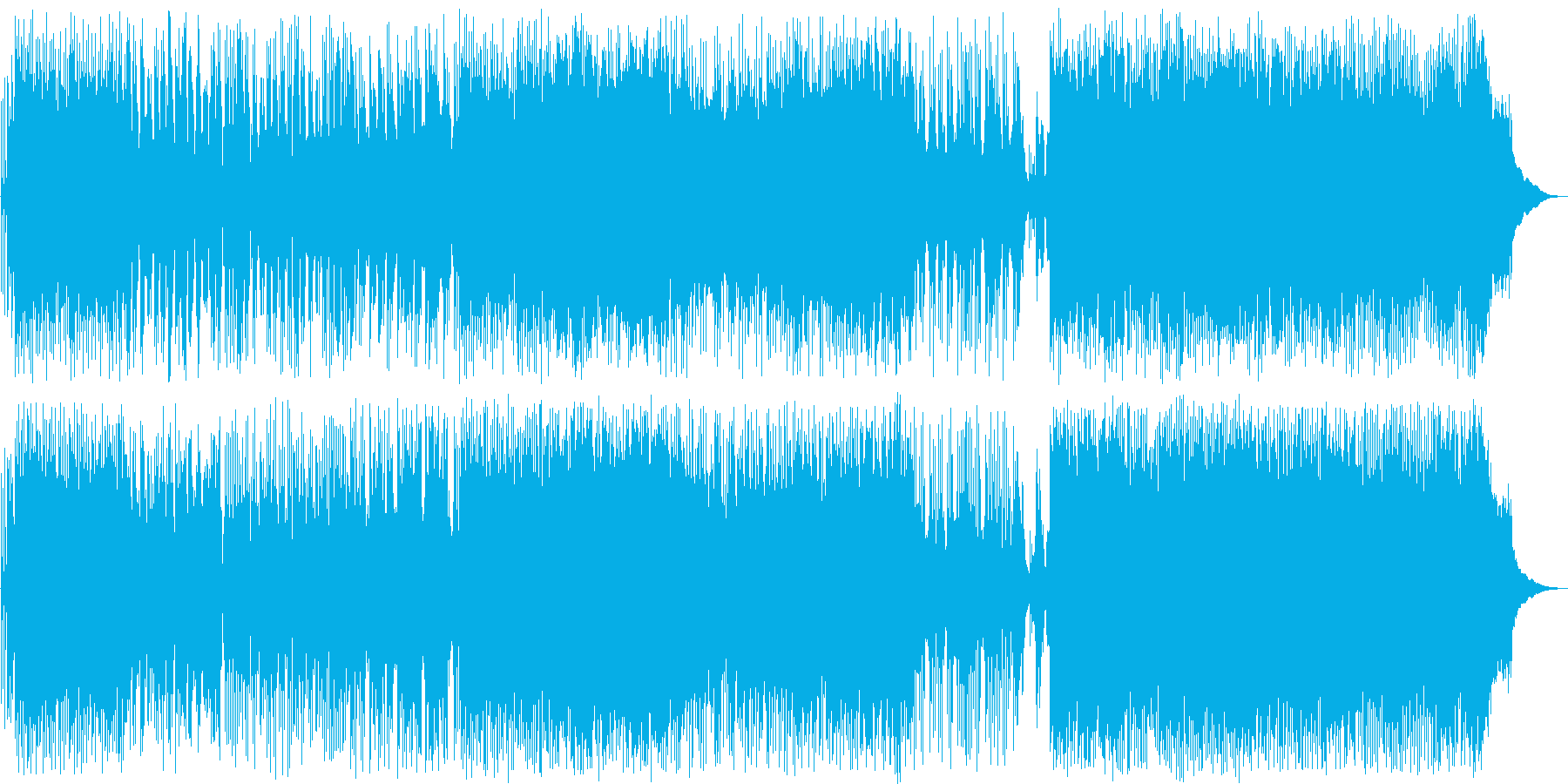 スピード感溢れるドラムが印象的なポップスの再生済みの波形