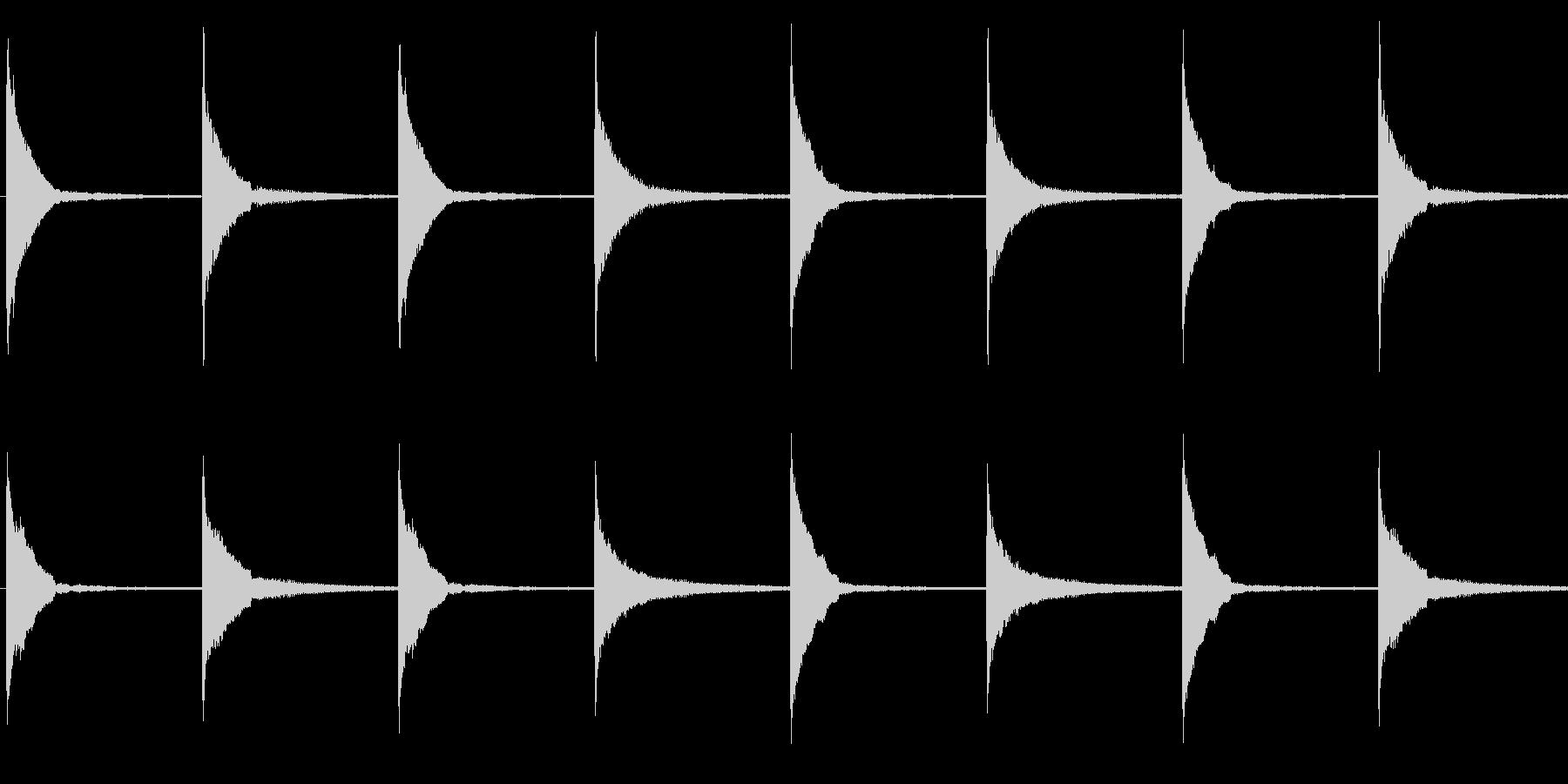 考える/シンキングタイム/マレットの未再生の波形
