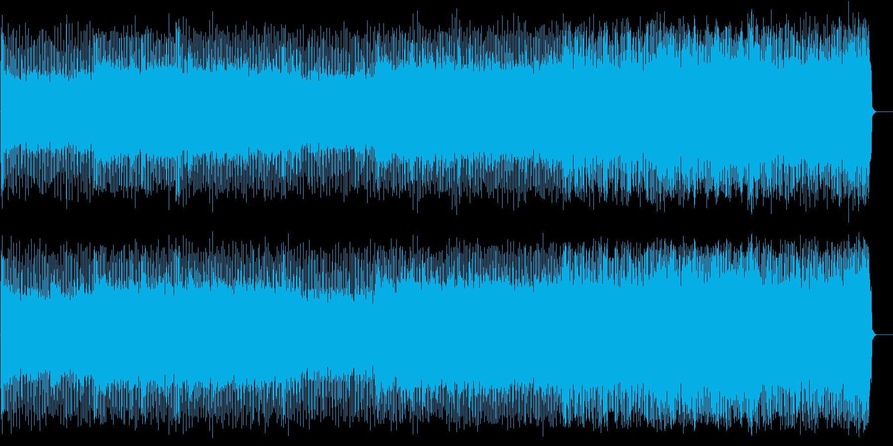 ドライブ感狂気感溢れるメタルBGMの再生済みの波形