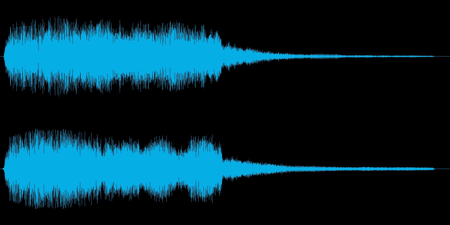 ブワ〜↑ン(上がる音)の再生済みの波形
