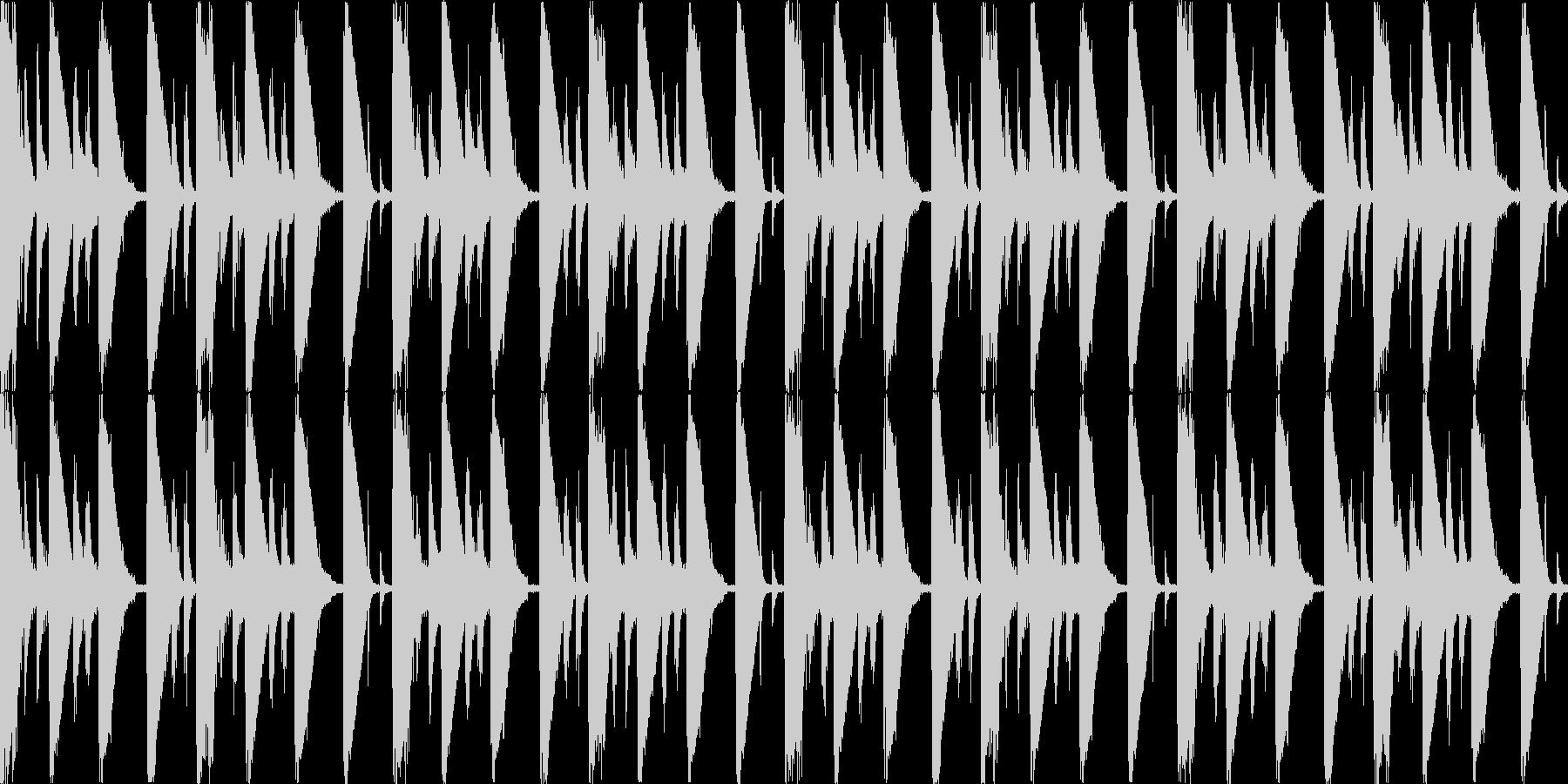 【ループF】浮遊感あるシンセが続くテクノの未再生の波形