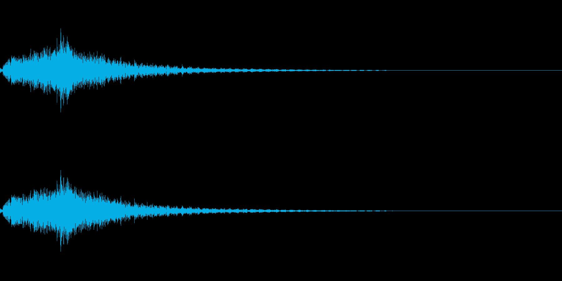 サウンドロゴ_琴駆け上がり_太鼓、鈴入りの再生済みの波形