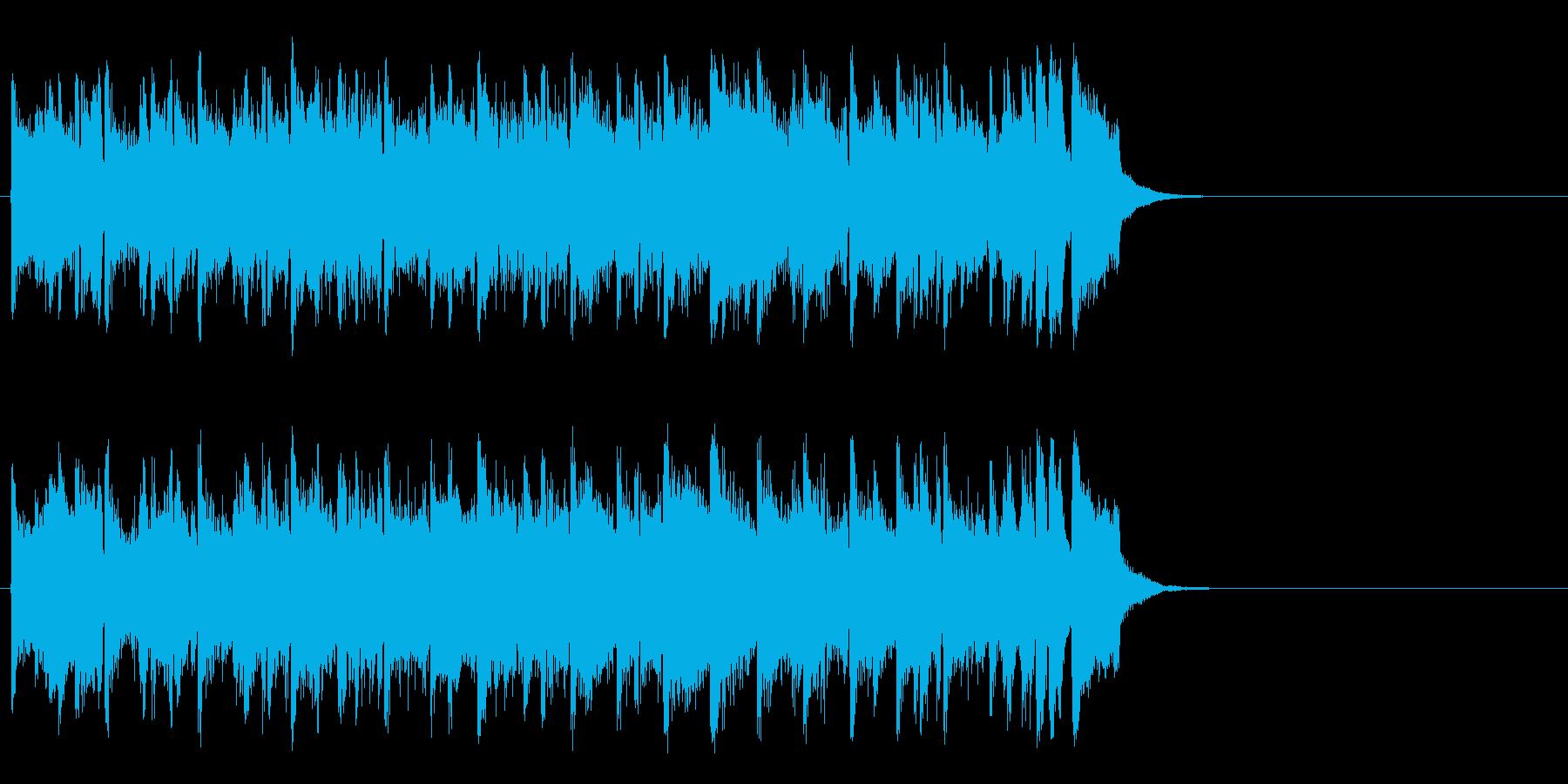 空と海の爽快フュージョン(サビ)の再生済みの波形