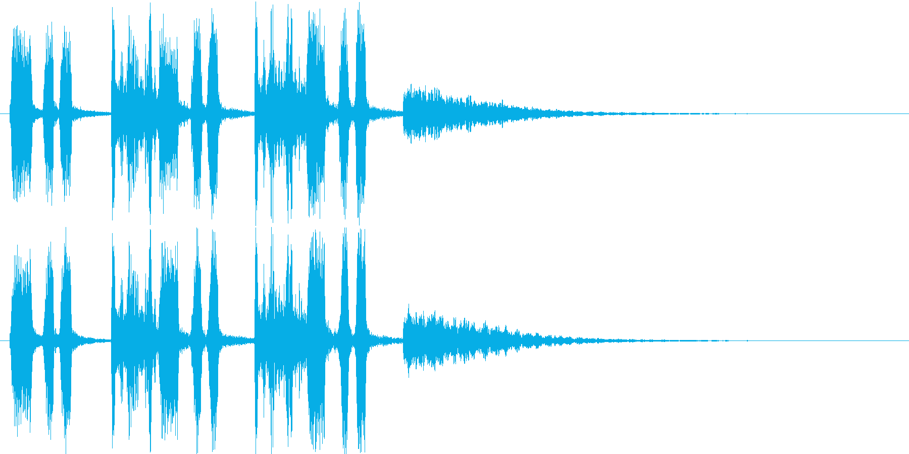 ファンタジーなシンセ・泡の音などの再生済みの波形