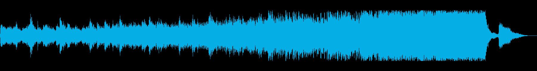 神秘的なヒーリングミュージックの再生済みの波形
