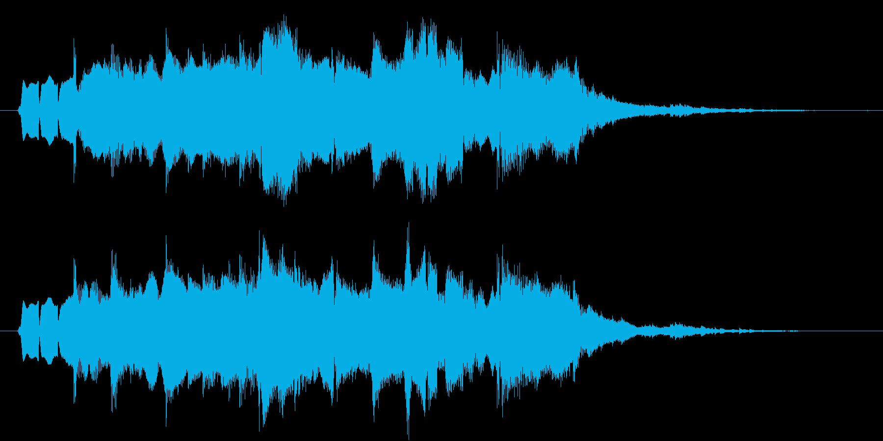 ジングル(素朴2)の再生済みの波形