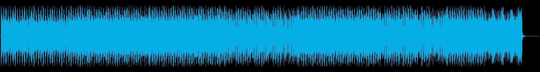 緊迫感を感じるエレクトロニカBGMの再生済みの波形
