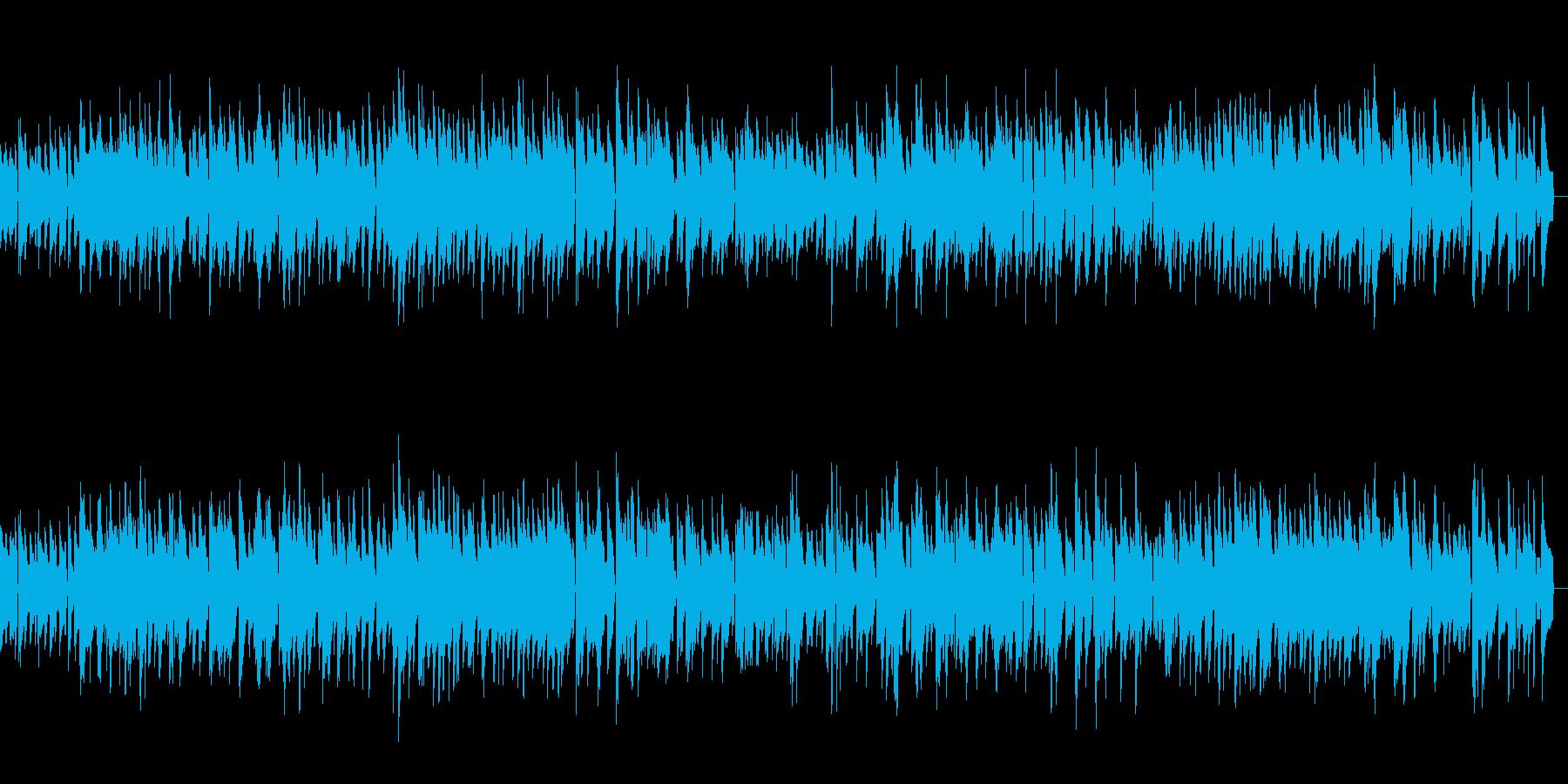 まったりピアノのジャズバラードの再生済みの波形
