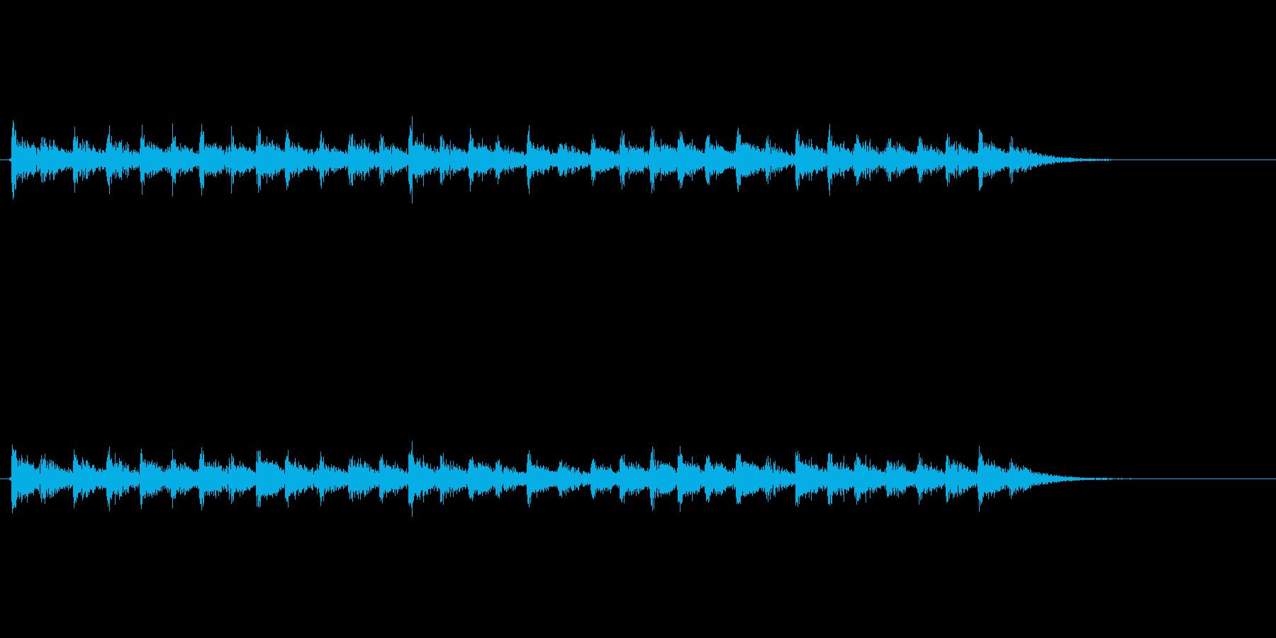 【足音03-5】の再生済みの波形