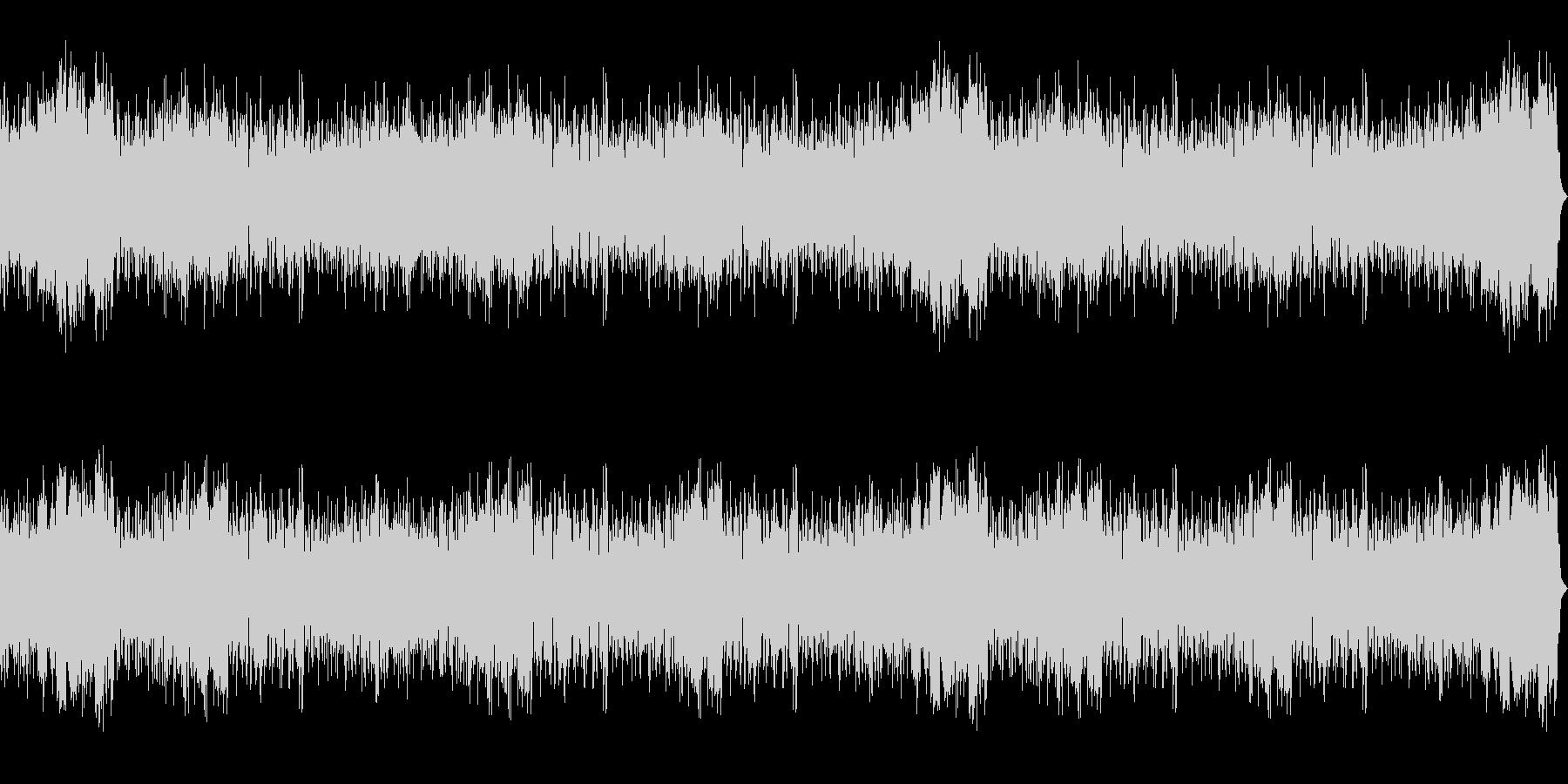 ダーク、ホラーな背景 ドラム入りBGMの未再生の波形