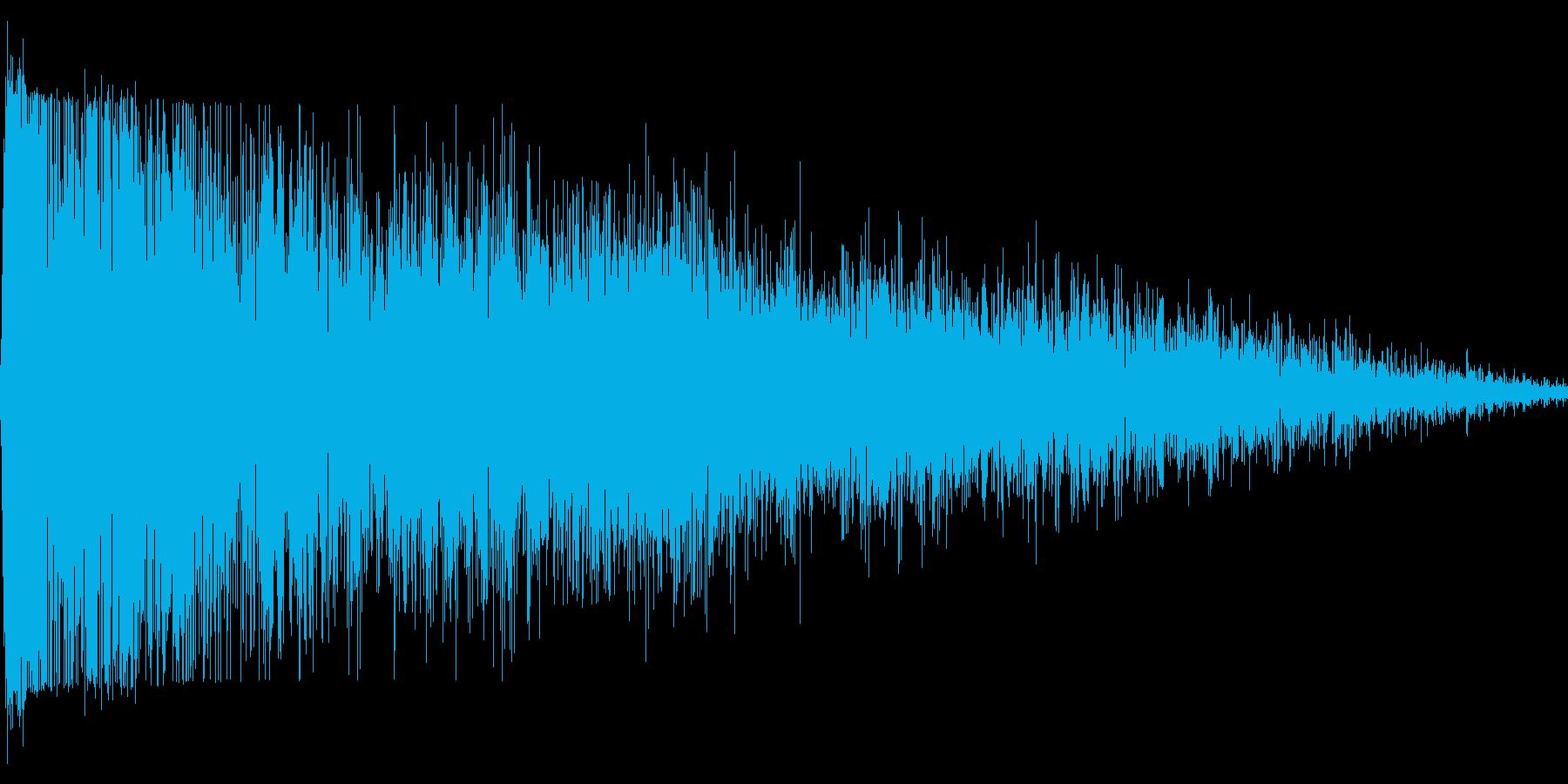 RPG:爆発音「ズドーンッ」の再生済みの波形
