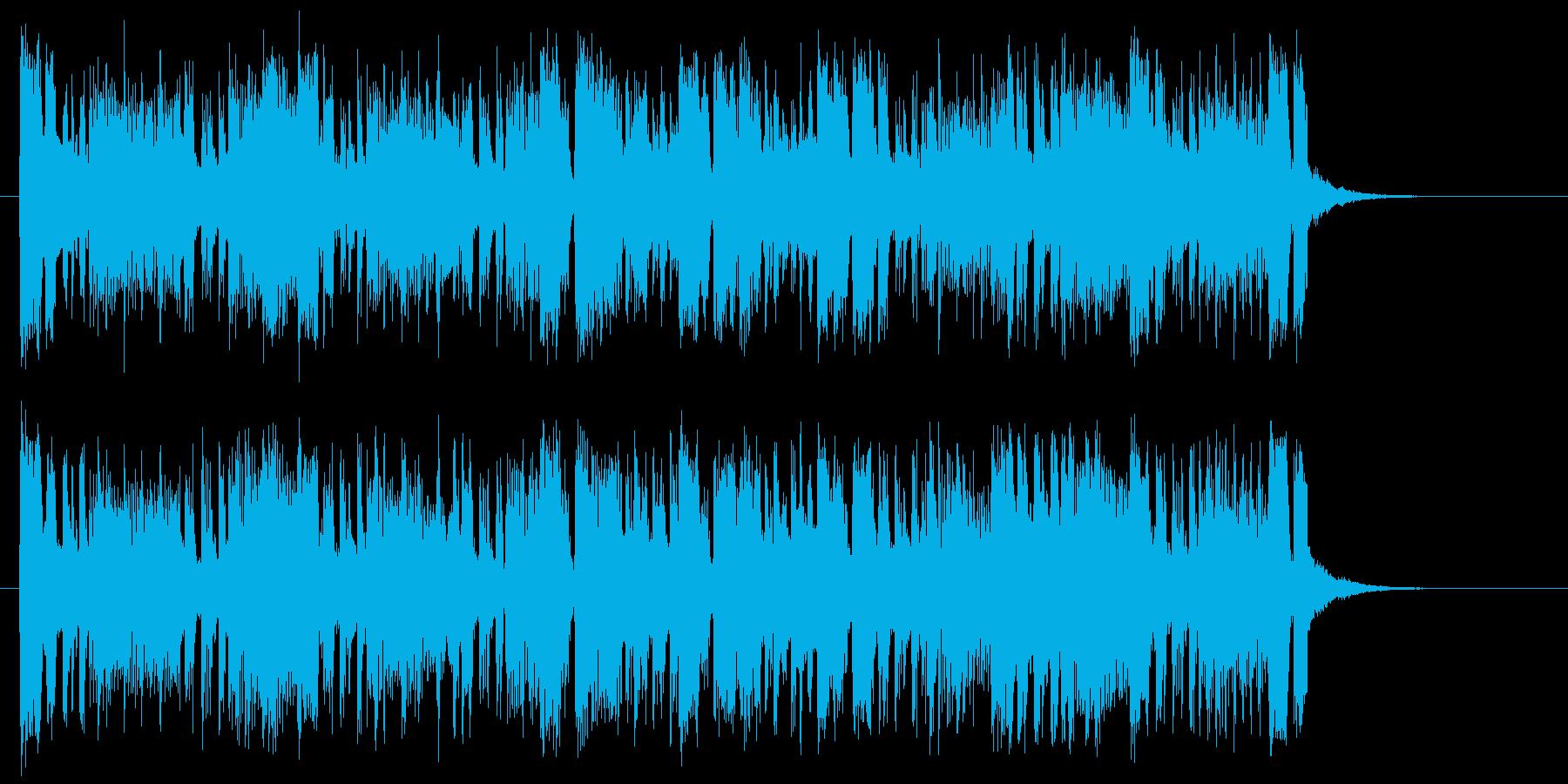 軽快でリズミカルなサンバ風ジングルの再生済みの波形