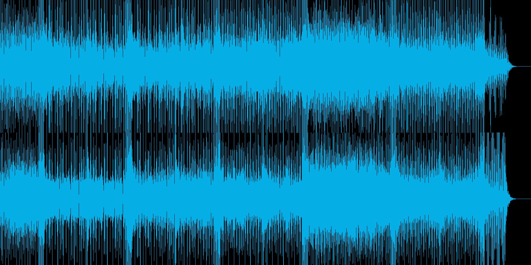 小気味良いリズムが印象的なロック曲の再生済みの波形