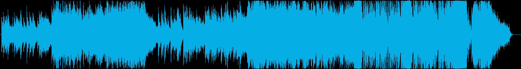 琴の音が印象的な日本的で和風なBGMv2の再生済みの波形