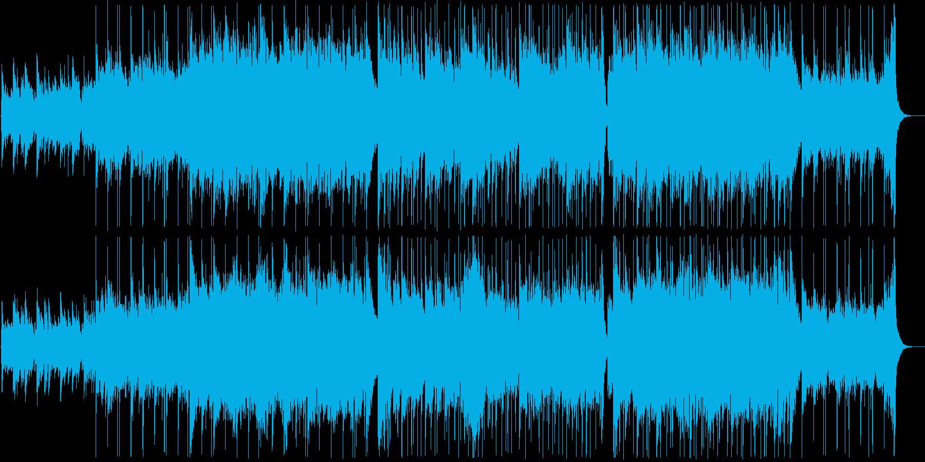 ピアノストリングスの癒しBGMの再生済みの波形