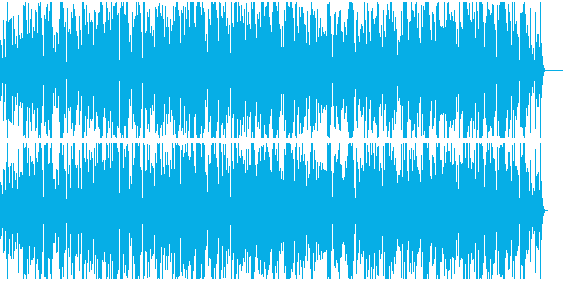 爽やかオープニング映像にゆっくりわくわくの再生済みの波形