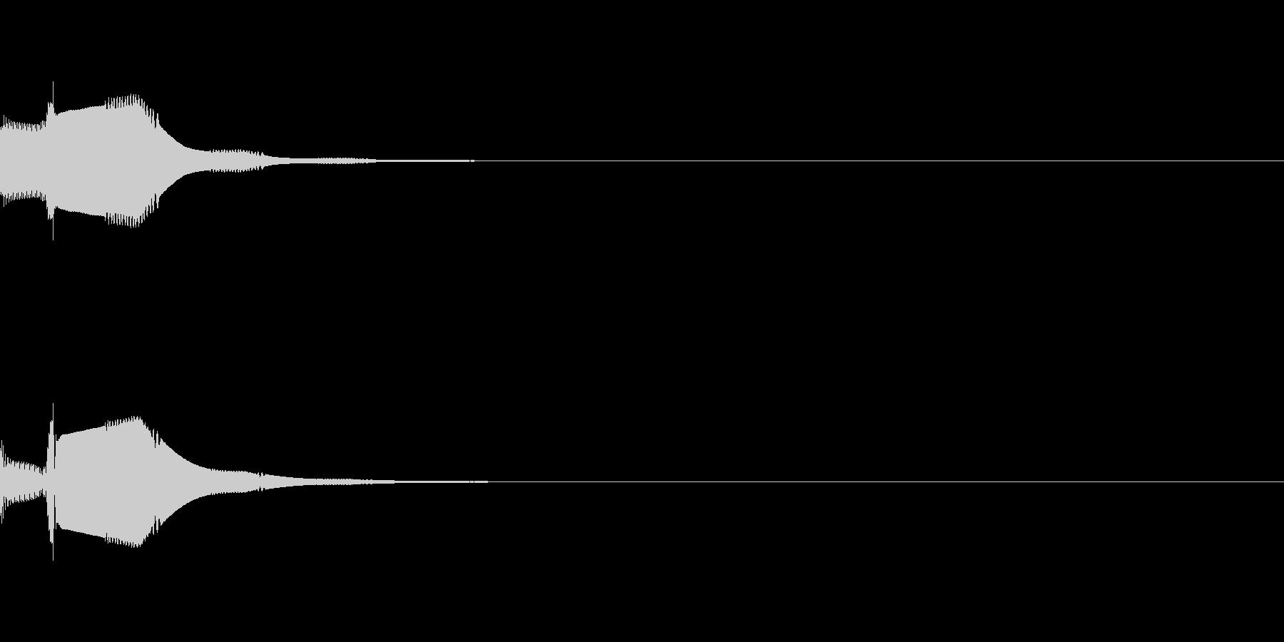 ピコっというシンプルなカーソル音です。の未再生の波形