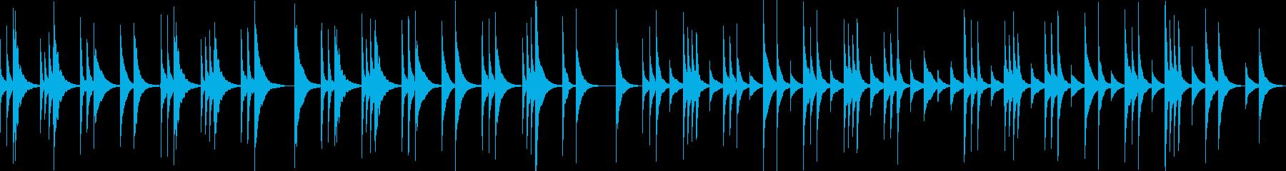 アメイジンググレイスのオルゴールアレンジの再生済みの波形