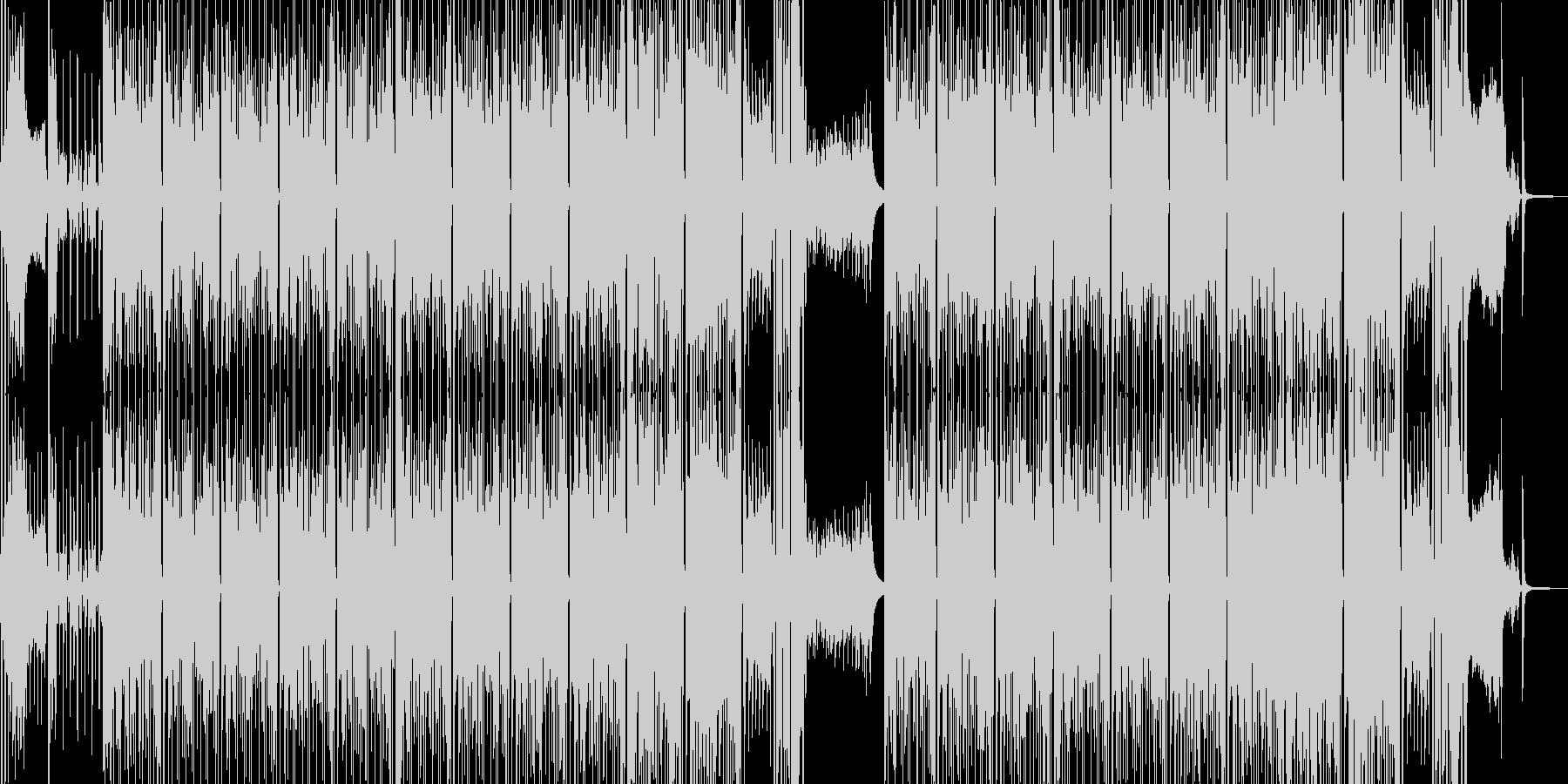 わいわい騒いでいるようなブラスR&Bの未再生の波形