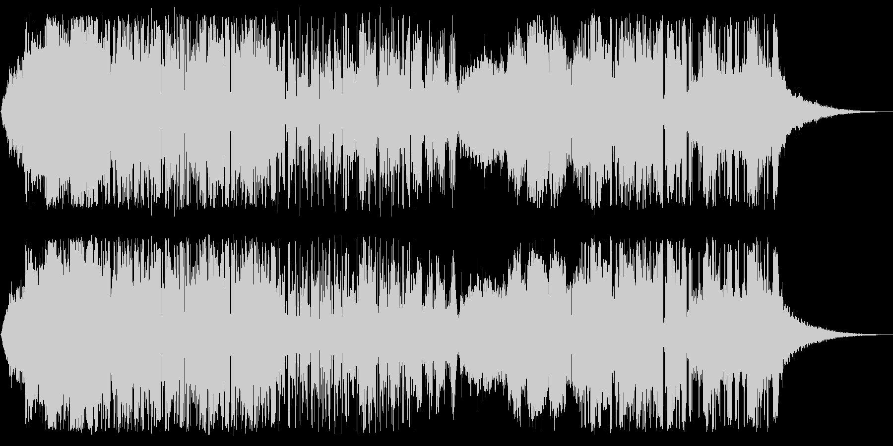 深く美しいエレクトロニカの未再生の波形