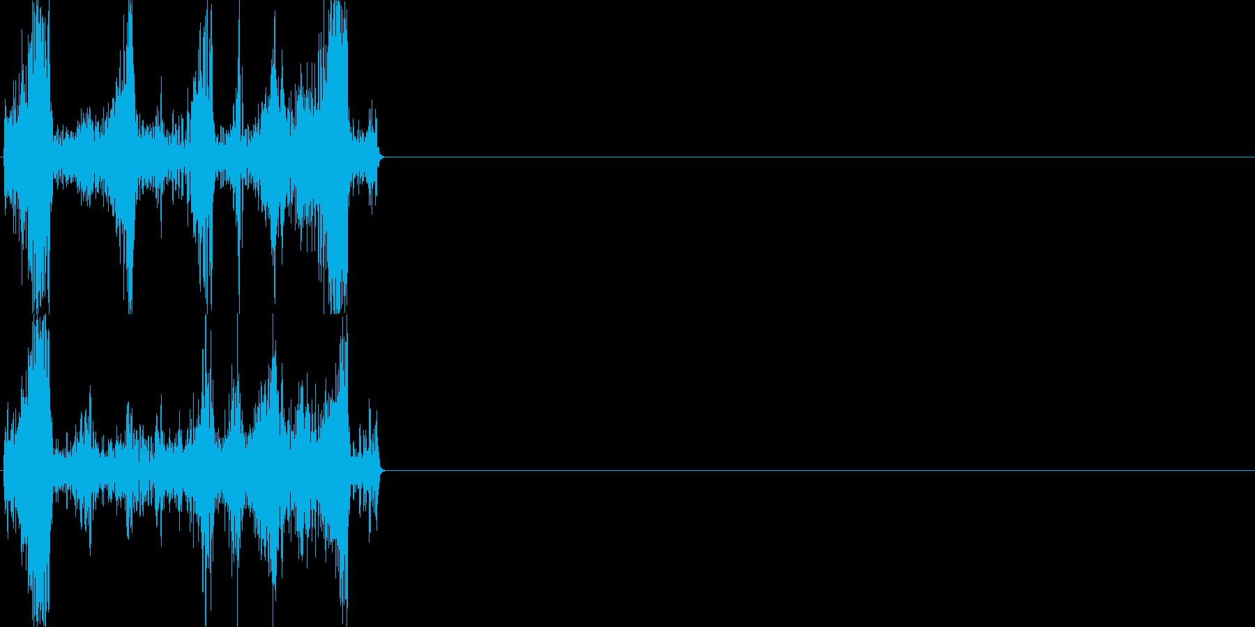 巻き戻し音01_シンセの再生済みの波形