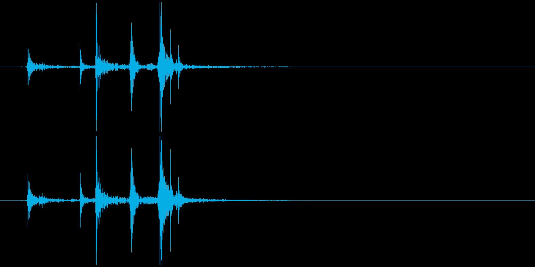 ガチャガチャのカプセル開閉音 カパッの再生済みの波形