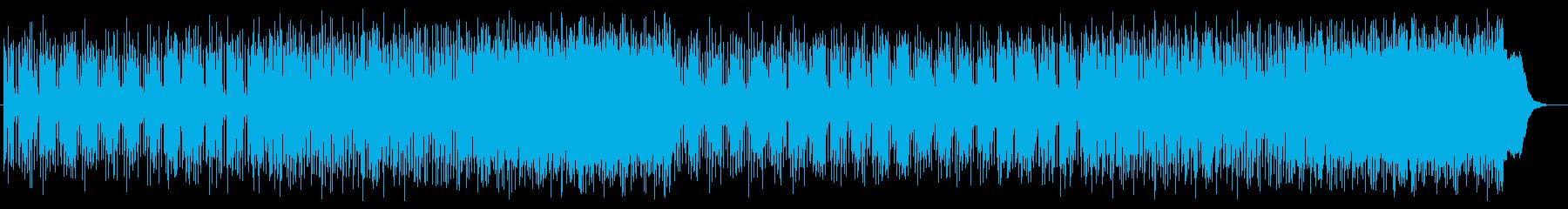 爽かなミディアムテンポのテクノポップの再生済みの波形