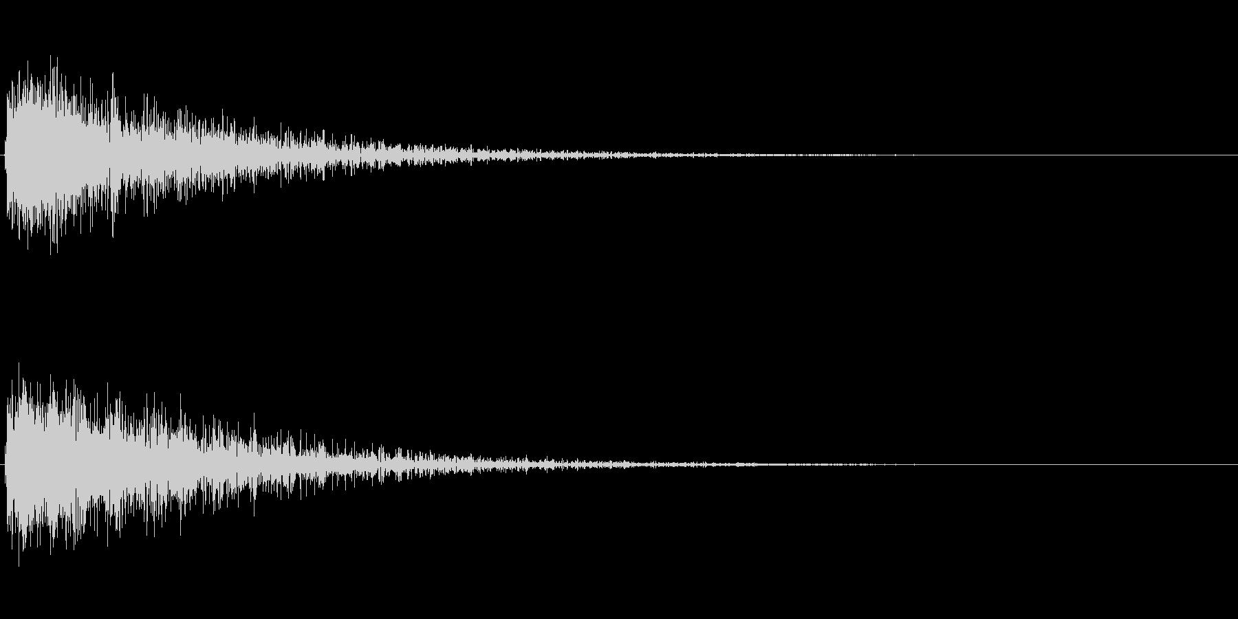 ドカーン(建物が爆発する音)の未再生の波形