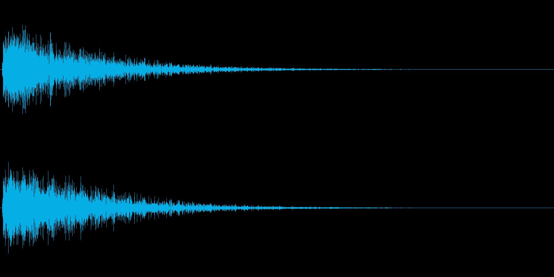 ドカーン(建物が爆発する音)の再生済みの波形