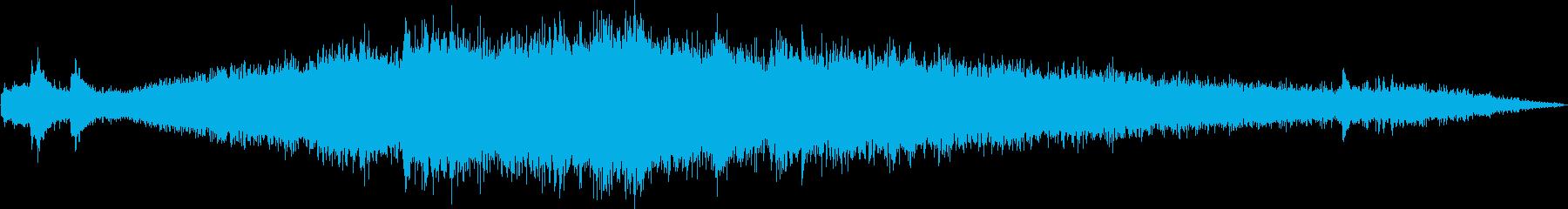 モノレール発車(車外で録音)の再生済みの波形