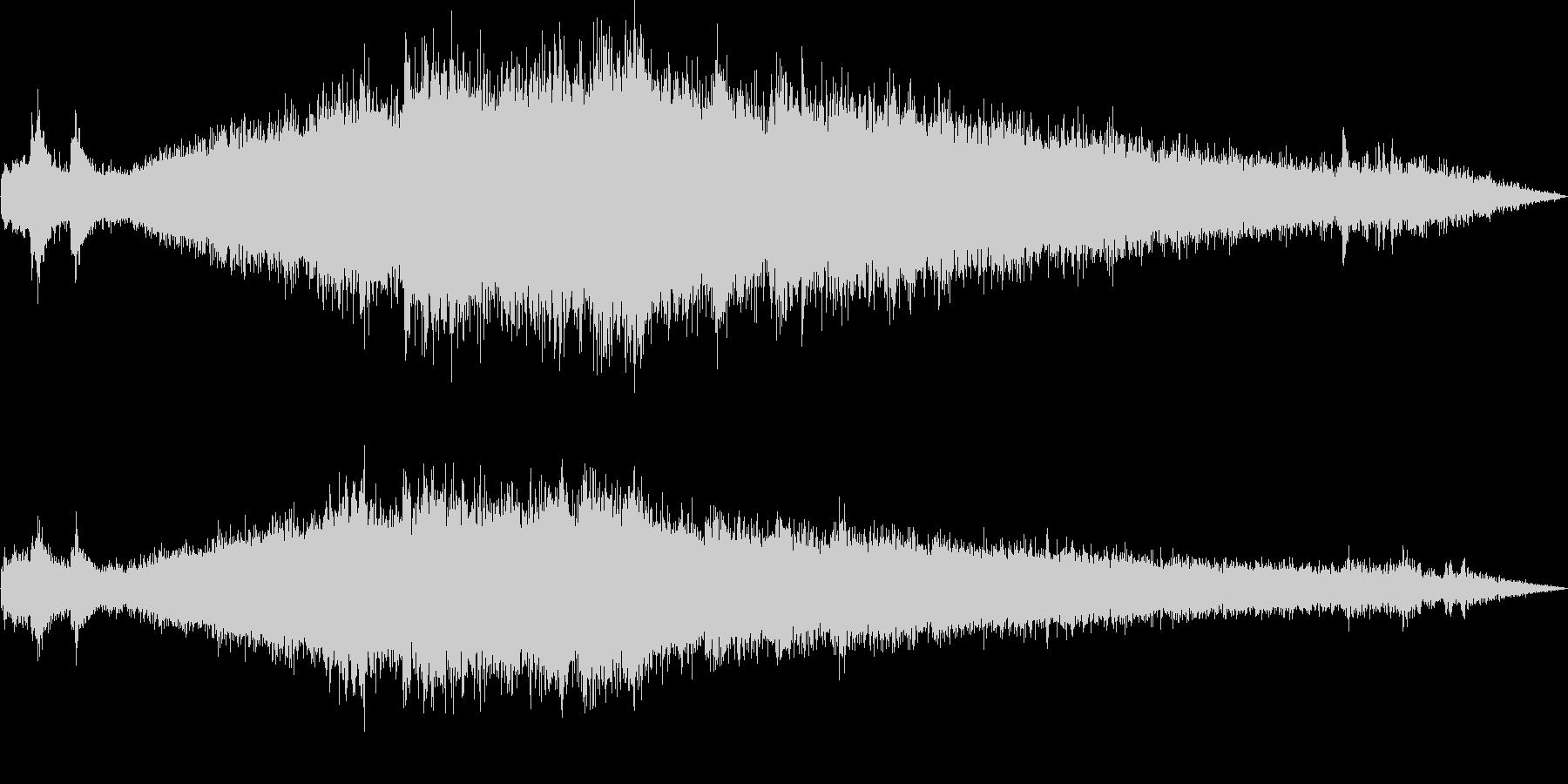 モノレール発車(車外で録音)の未再生の波形