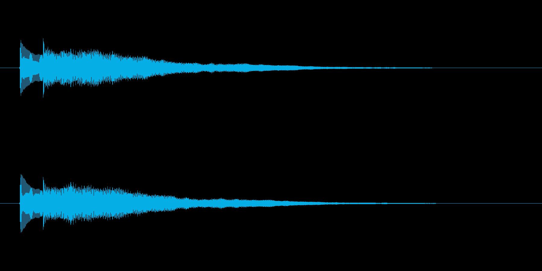 ボン、ボーンという弦楽器の音の再生済みの波形