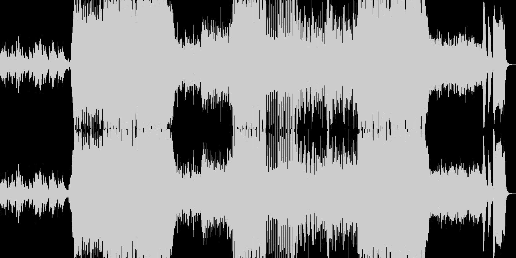 オルゴールから始まるホラー系ロックの未再生の波形