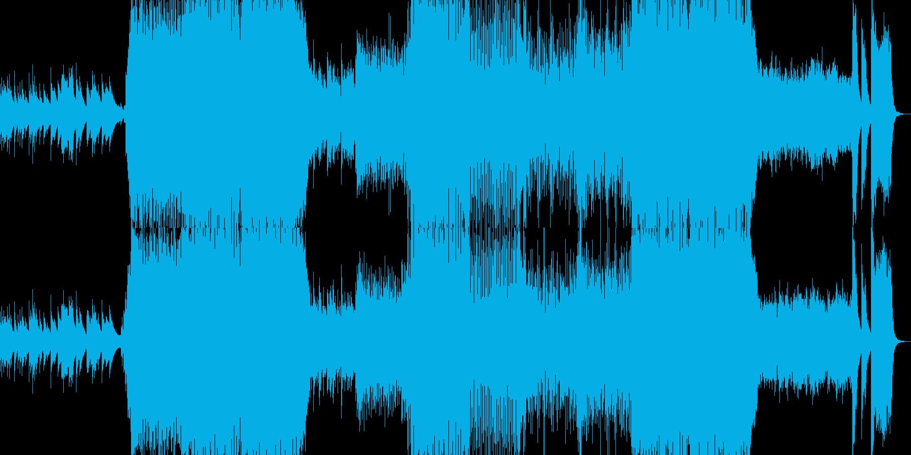オルゴールから始まるホラー系ロックの再生済みの波形