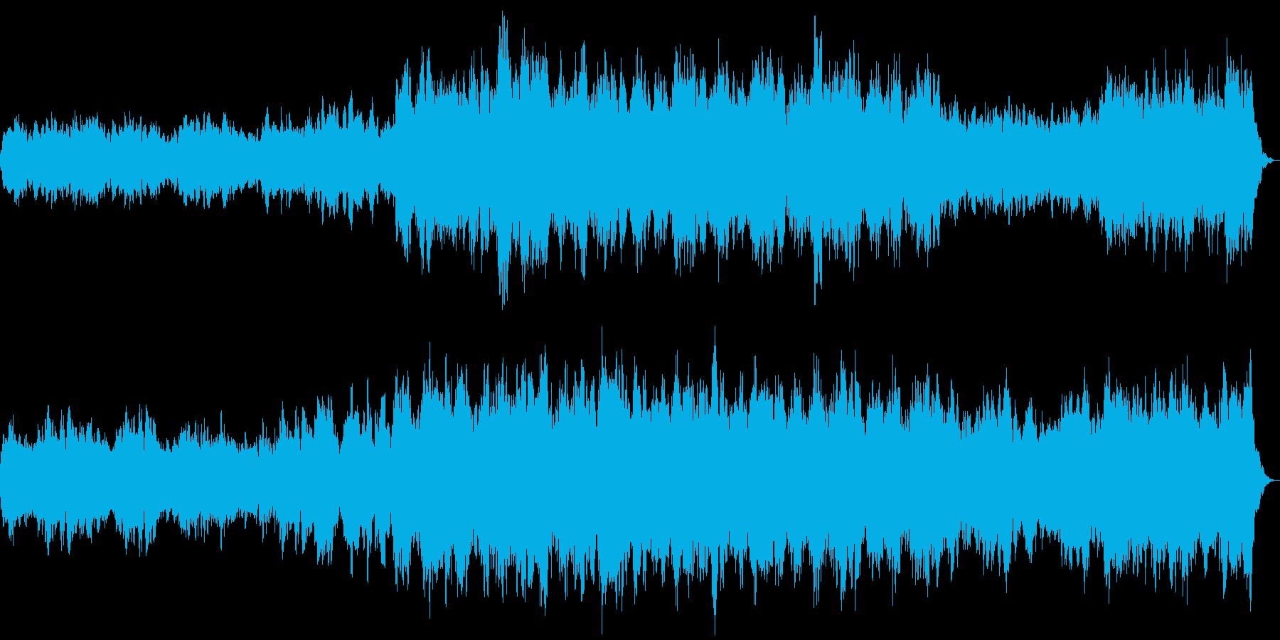 ザダーク 恐怖演出 ホラーなストリングスの再生済みの波形