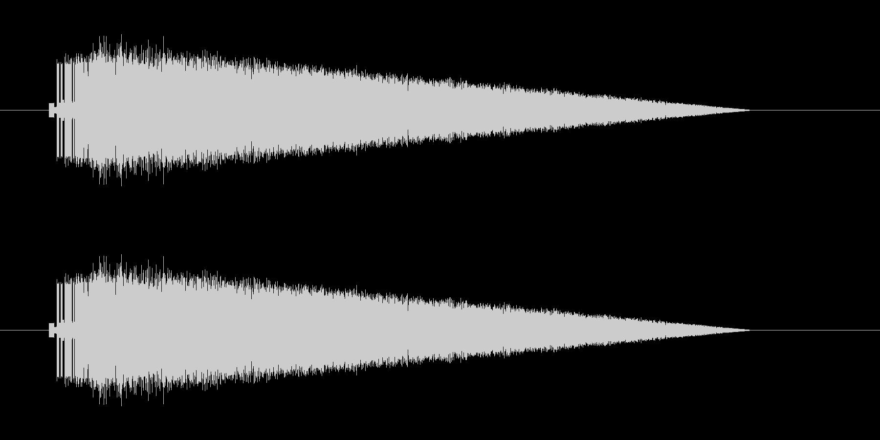レトロゲーム風魔法雷系1の未再生の波形
