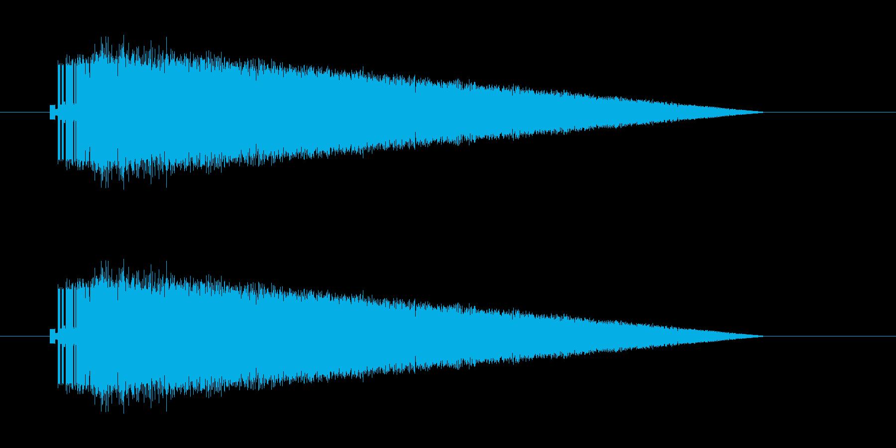 レトロゲーム風魔法雷系1の再生済みの波形