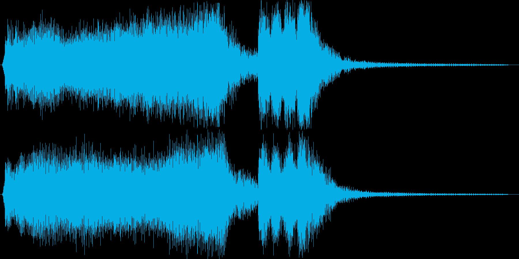 様式美的な結果発表用のジングルの再生済みの波形