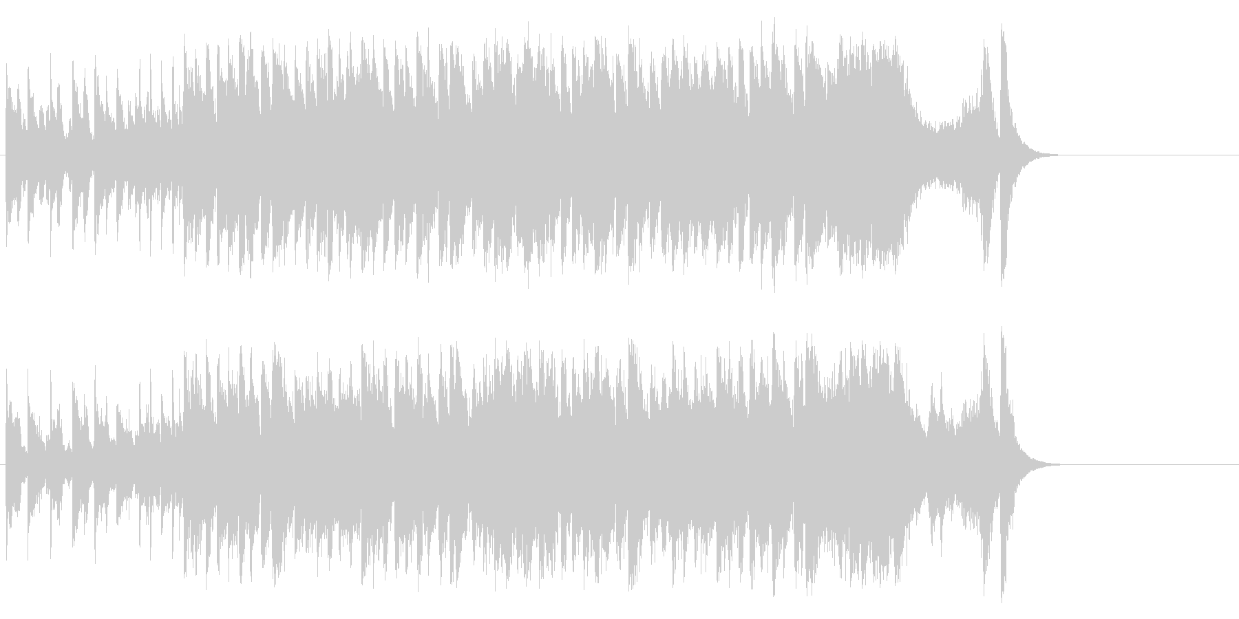 和やかなポップ BGM(イントロ~サビ)の未再生の波形